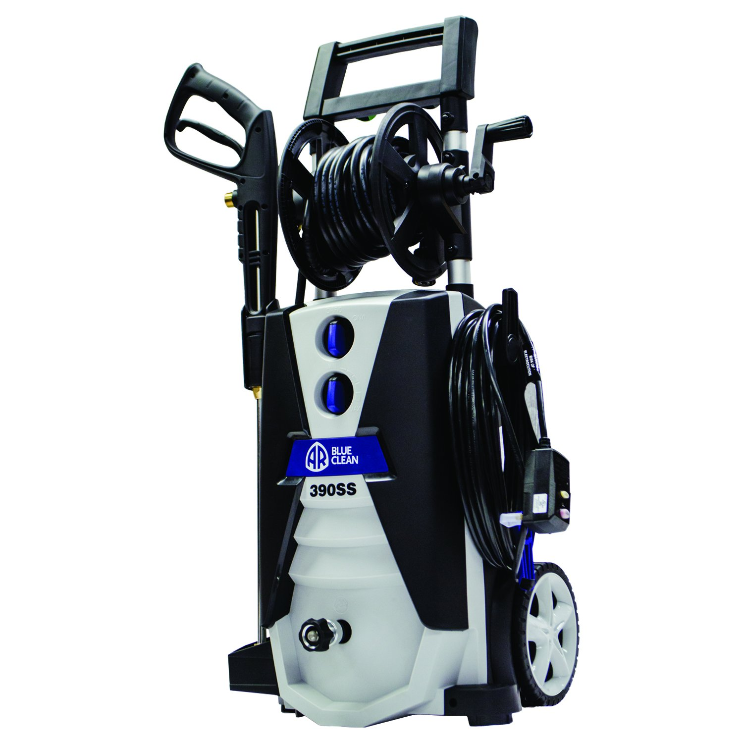 AR Blue Clean AR390SS 2000 psi Electric Pressure Washer with Spray Gun, Wand, 30' Hose & 35' Power Cord, Blue by Annovi Reverberi (Image #2)