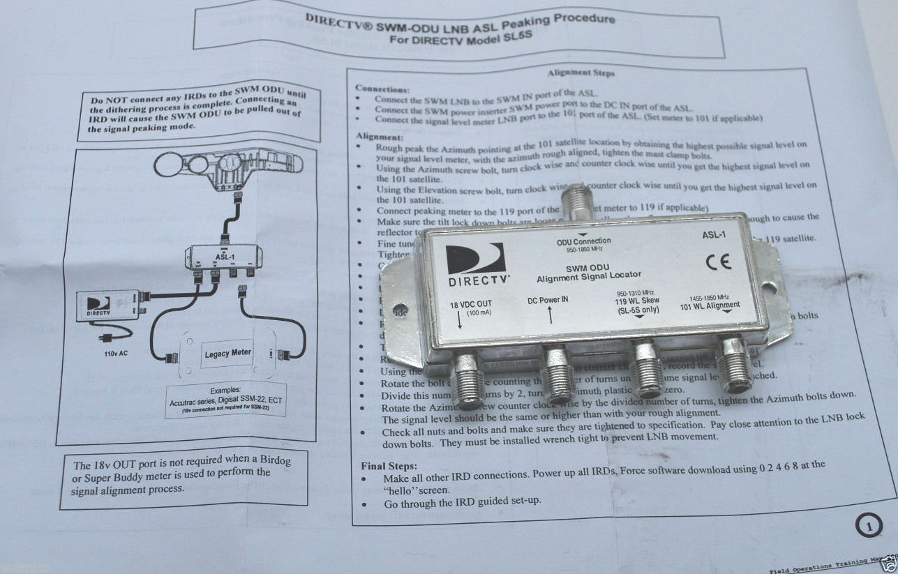71mz3geWpTL._SL1287_ amazon com directv asl 1 swm alignment signal locator tool for DirecTV SWM Setup Diagram at gsmportal.co