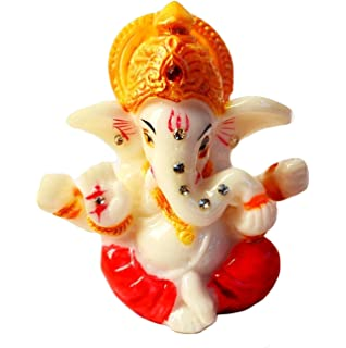 25 Mini Lord Ganesh Ganpati Poly Marble Idol Hindu God Of Success