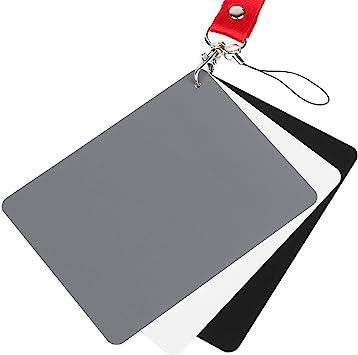 Tarjeta gris anwenk fotografía de exposición de 18 de balance de blancos personalizado calibración..