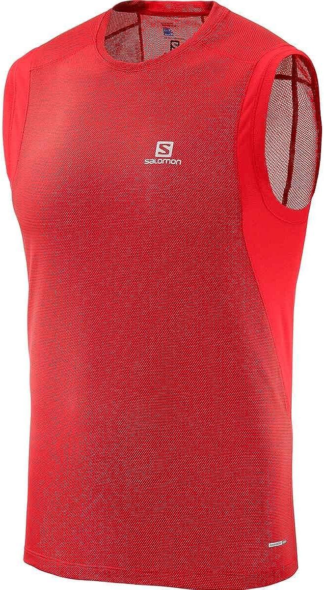 SALOMON Trail Runner Sleeveless tee M - Camiseta, Hombre, Rojo(Barbados Cherry): Amazon.es: Deportes y aire libre
