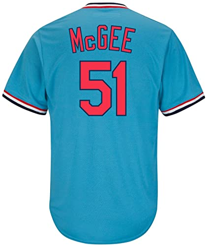 online store 3d5a3 0f72a Willie McGee St. Louis Cardinals Blue Cool Base Cooperstown Men's Jersey