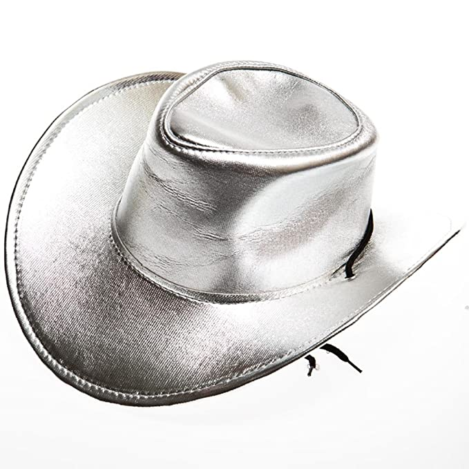 Amazon.com  Hayes Specialties Corp. Silver Cowboy Hat  Clothing 8411c55b6f1
