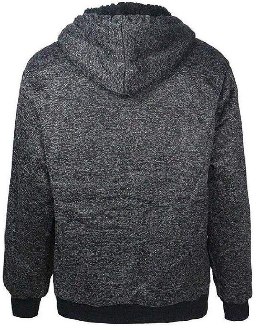 Abeaicoc Men Full Zip Up Sherpa Lined Sweatshirts Fleece Jacket with Hood