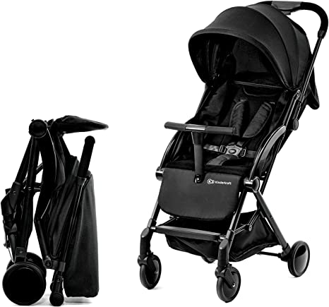 Black Basket Only Compact Lightweight New Born Baby Travel Basket Car Seat Stroller Pram Buggy Pushchair One Hand Tri-Fold