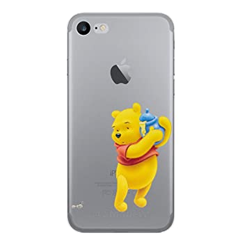 iPhone 5/5s Winnie the Pooh Estuche de Silicona / Cubierta de Gel para Apple iPhone 5s 5 SE / Protector de Pantalla y Paño / iCHOOSE / Tarro de Miel