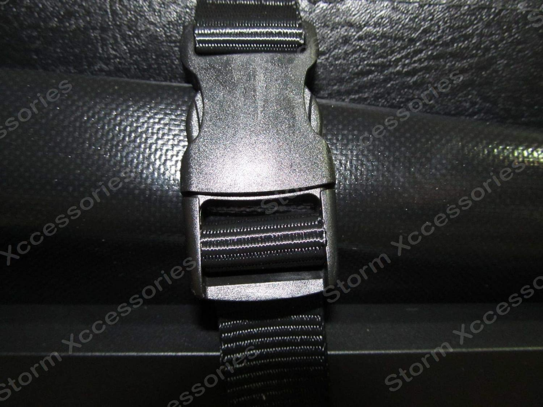 Black STX HILUX 2005-2015 Double Cab Tri-Folding Fold Up Tonneau Cover