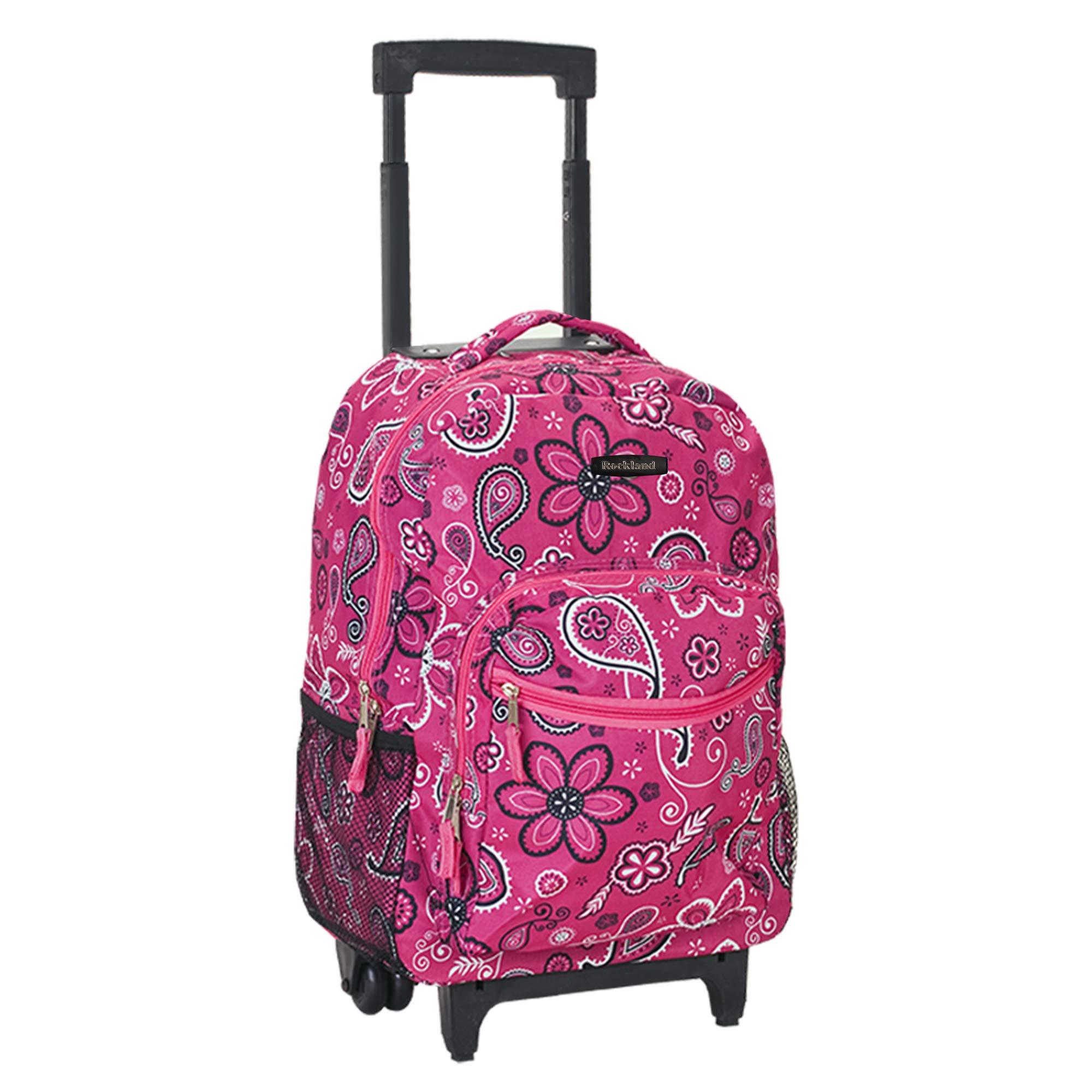 Rockland Luggage 17 Inch Rolling Backpack, Bandana, Medium by Rockland