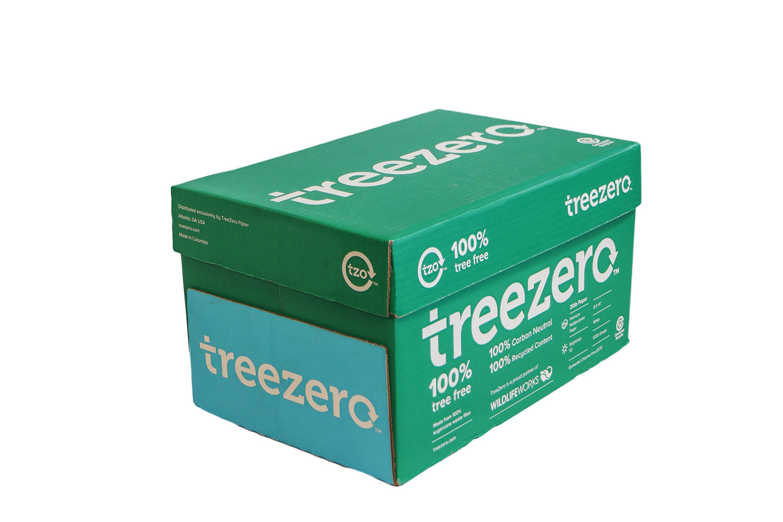 TreeZero Multi Purpose Copy Paper 8 1/2 X 11 5000 Sheets 10 Reams