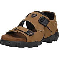 Emosis Men's Stylish 0181 Tan Brown Green Colour Formal Casual Ethnic Office Party Daily Wear Sandal