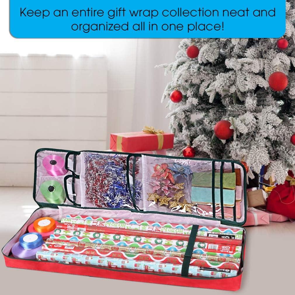 Primode Gift Wrap Storage Bag Green