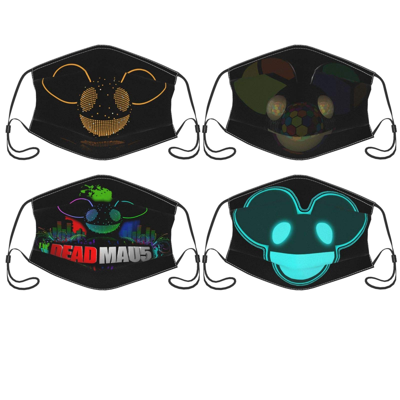 Deadmau5 Filtered Balaclava Masks, Washable And Reusable Masks For Men And Women (4 Pieces)