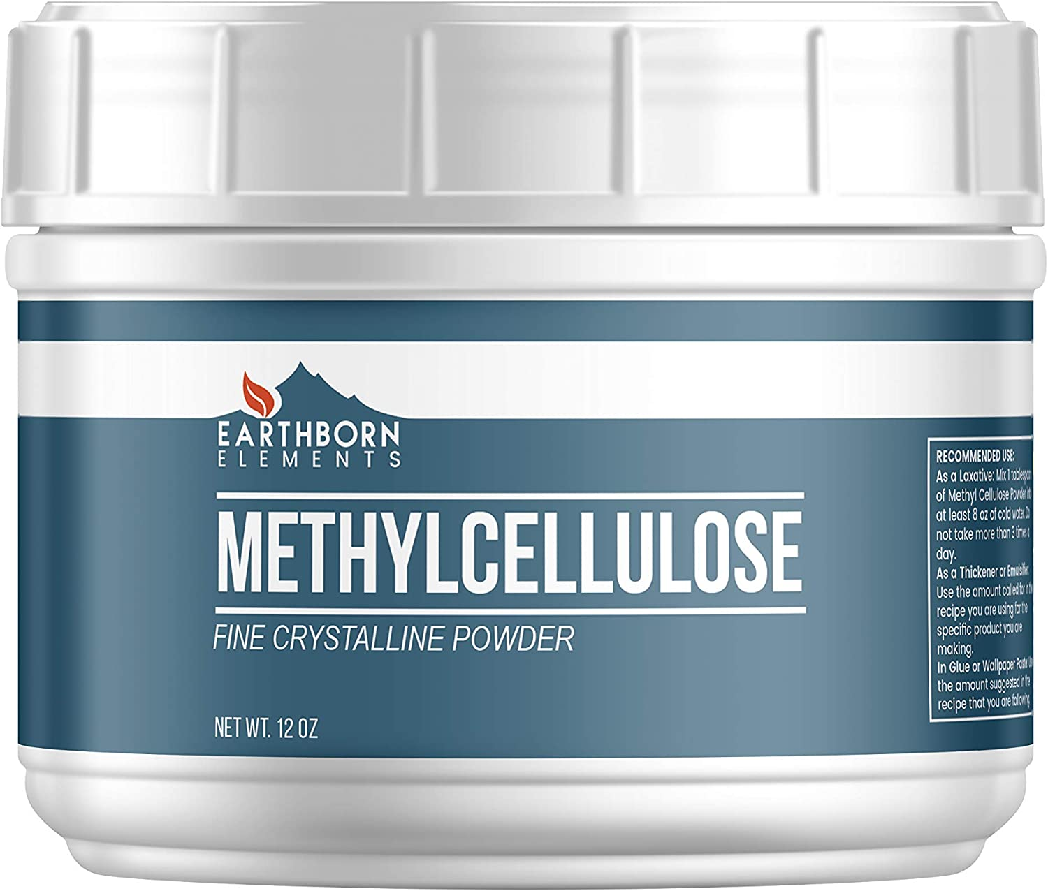 Methylcellulose Powder (12 oz Tub) Food Grade, Laxative, Thickener, Buffer Additive, Used to Make Glue & Wallpaper Paste. Contains No Emulsifiers or Mix-Aid Chemicals, Vegan-Friendly