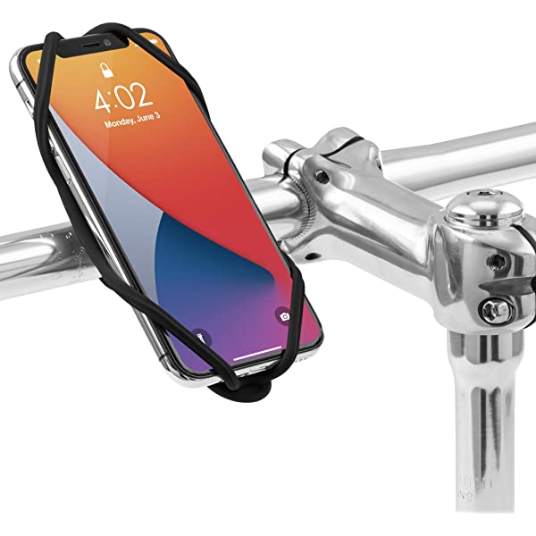 """Race /& Touring- Black Designed for Road Face ID Compatible 7.2/"""" Screen Smartphones Bone Bike Tie Pro 4 Bike Phone Holder for Stem Mounting 4.7/"""" Ultra Light Weight Bicycle Phone Mount"""