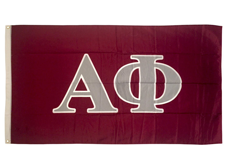 Alpha Phi Letter Sorority Flag Greek Letter Use as a Banner Large 3 x 5 Feet Sign Decor A Phi by Desert Cactus