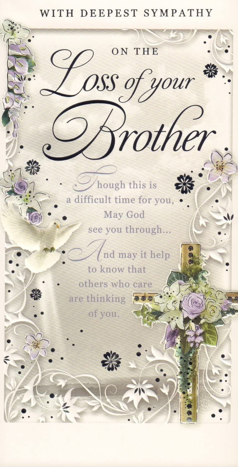 "Brother Sympathy Card :"" with Deepest Sympathy On The Loss of Your ..."