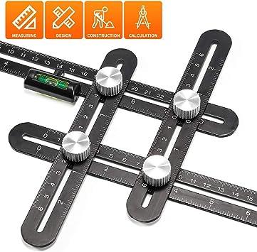 Pro-Series Multi-Angle Measuring Ruler Universal Angleizer Ruler Template Tool