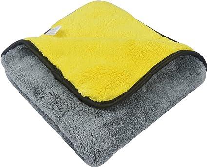 "6 Pcs Microfiber Towel House Cleaning Car Detailing Cloths Rag 16/""x16/"" Yellow"