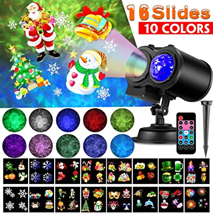 Remote Christmas Stage Light Projector Lamp Waterproof Spotlight Halloween Home Party Holiday Decoration 16 Patterns 8w A Great Variety Of Models Commercial Lighting