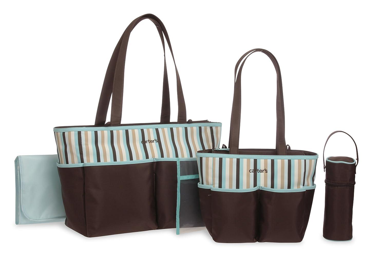 Amazon.com : La bolsa de asas del pañal Set, Gris, Rosa : Baby