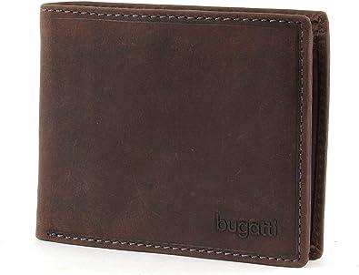 Portemonnaie Herren Querformat Braun Bugatti Romano Geldb/örse Herren Leder mit RFID Schutz Geldbeutel Portmonee Wallet Brieftasche M/änner Portmonaise