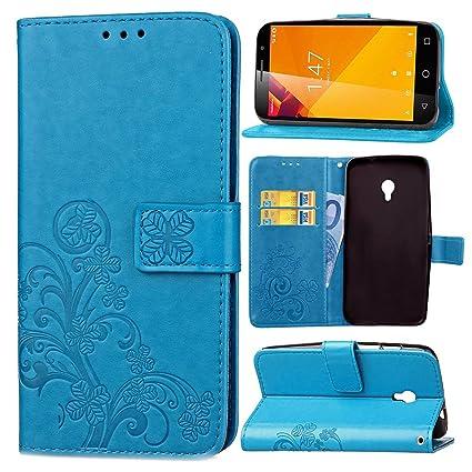 Guran® Funda de Cuero PU para Vodafone Smart Turbo 7 Smartphone Función de Soporte con