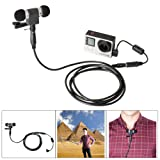 Fantaseal® 5-in-1 Stereo Mic Kit for GoPro Microphone Windproof Mic for GoPro Hero 4 Black/ 4 Silver/ Hero 3+/3 Black/ 3+/3 Silver/ 3+/3 White (Not Compatible with GoPro Hero5/ Hero5 Session/ 4 Session/ GoPro Hero/ Hero+/ Hero+ LCD) w/ Stereo Microphone + Extension Cable + Noise Reduction Anti-Interference Ferrite Bead Filter GoPro Mic Converter Adapter for GoPro Hero 4 Black Hero 4 Silver / Hero 3+/3 Black / Hero 3+/3 Silver / Hero 3+/3 White