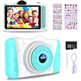 WOWGO Kids Digital Camera - 12MP Children's Selfie Camera with 3.5 Inches Large Screen for Boys and Girls,1080P Rechargeable