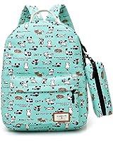Samaz Lightweight Canvas Cute Cat School Backpack for Teen Girls Women, Pack of 2