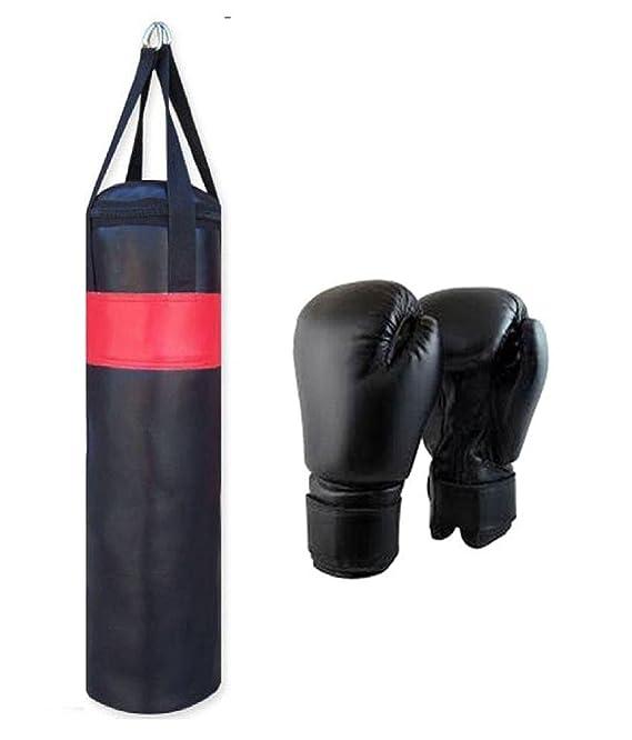 Monika Sports Leather Boxing Bag Set  36, Multicolour, 3 Piece