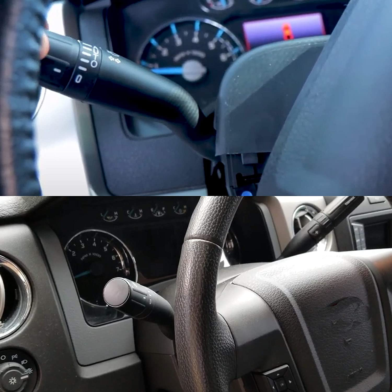 Dasbecan Turn Signal Windshield Wiper Switch Multiple Function Compatible with Ford F150 F250 F350 F450 F550 Super Duty 2011-2013 Replaces# SW-6874 BC3Z-13K359-BA