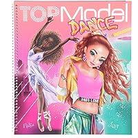 Depesche TOPModel 11453 Kleurboek Dance, coole tanzoutfits om zelf vorm te geven, 30 voorgetekende figuren, 3 sjablonen…