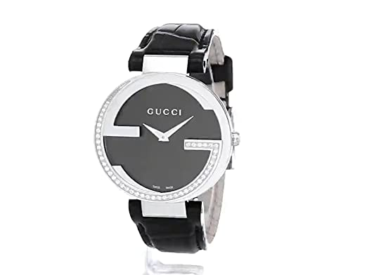 c438d2c3c15 Amazon.com  Gucci Stainless Steel Diamond-Accented Watch with Leather  Women s Band(Model YA133305)  Gucci Watches  Watches