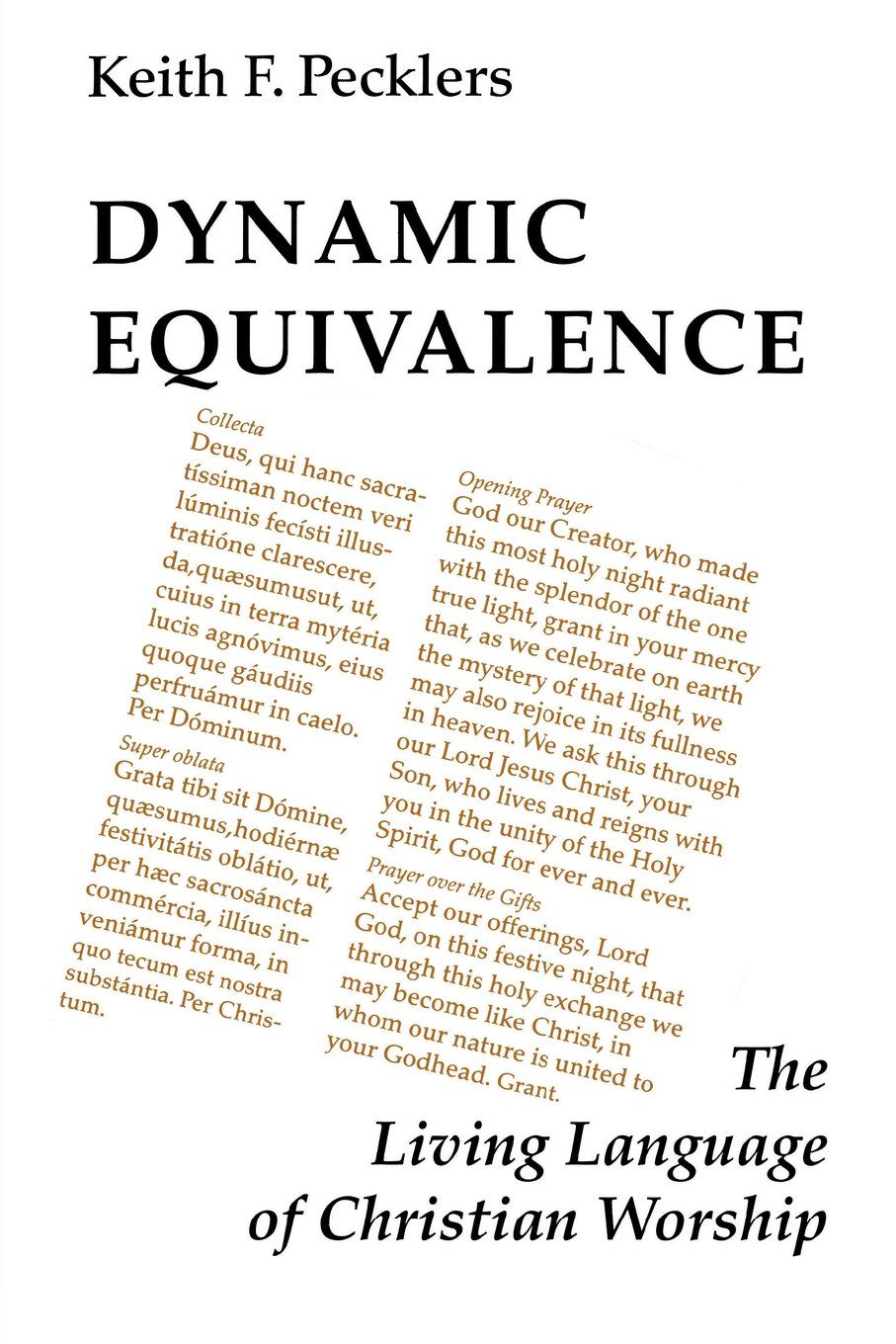 Dynamic Equivalence: The Living Language of Christian Worship (Pueblo Books)