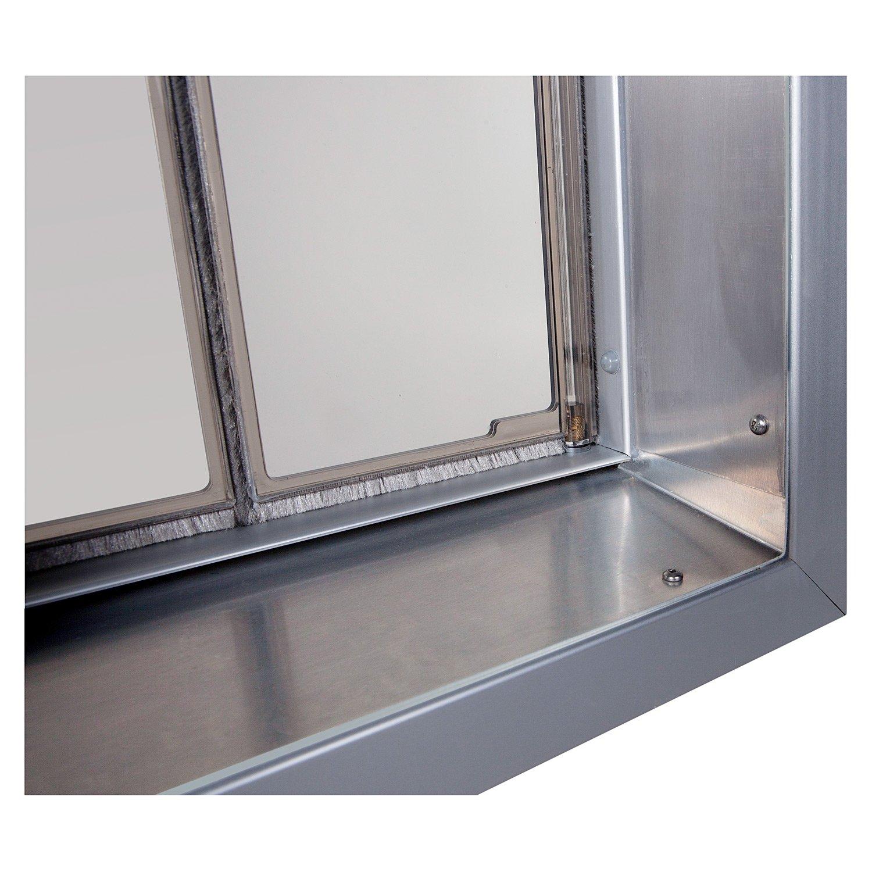 Amazon Plexidor Performance Pet Doors Large Silver Wall Mount