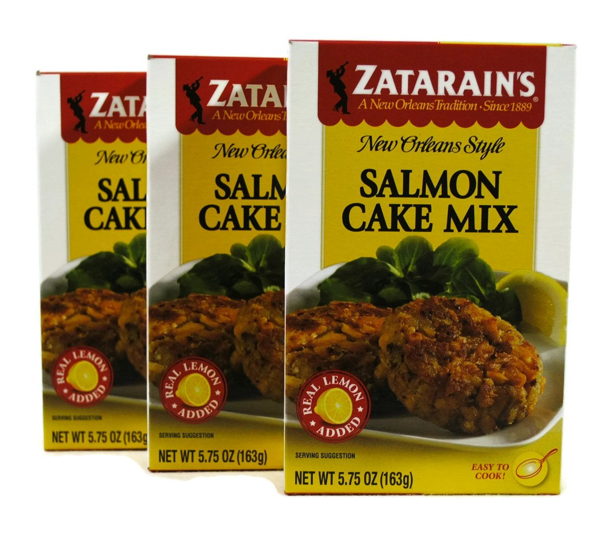 Zatarains New Orleans Style Salmon Cake Mix 5.75oz (Pack of 3)