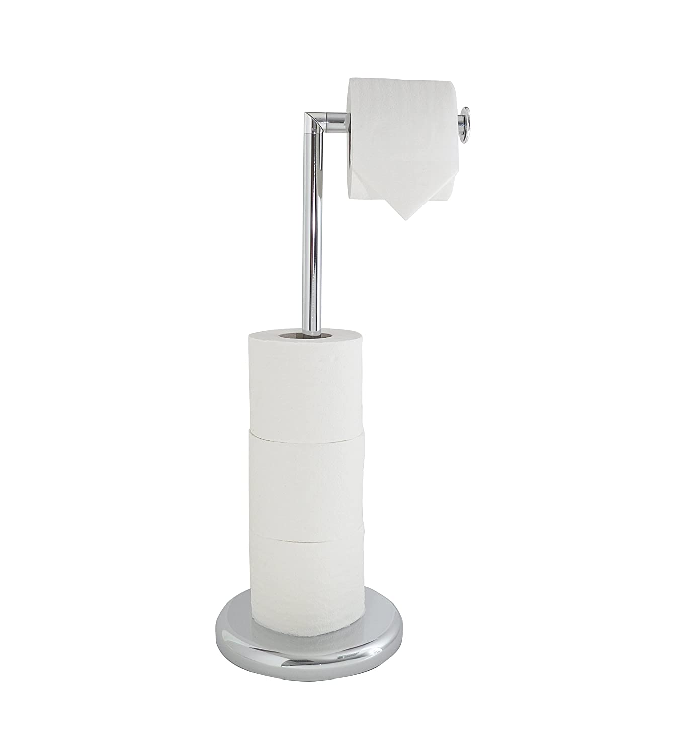 LLyod Pascal Swivel Top Chrome Effect Toilet Roll Holder