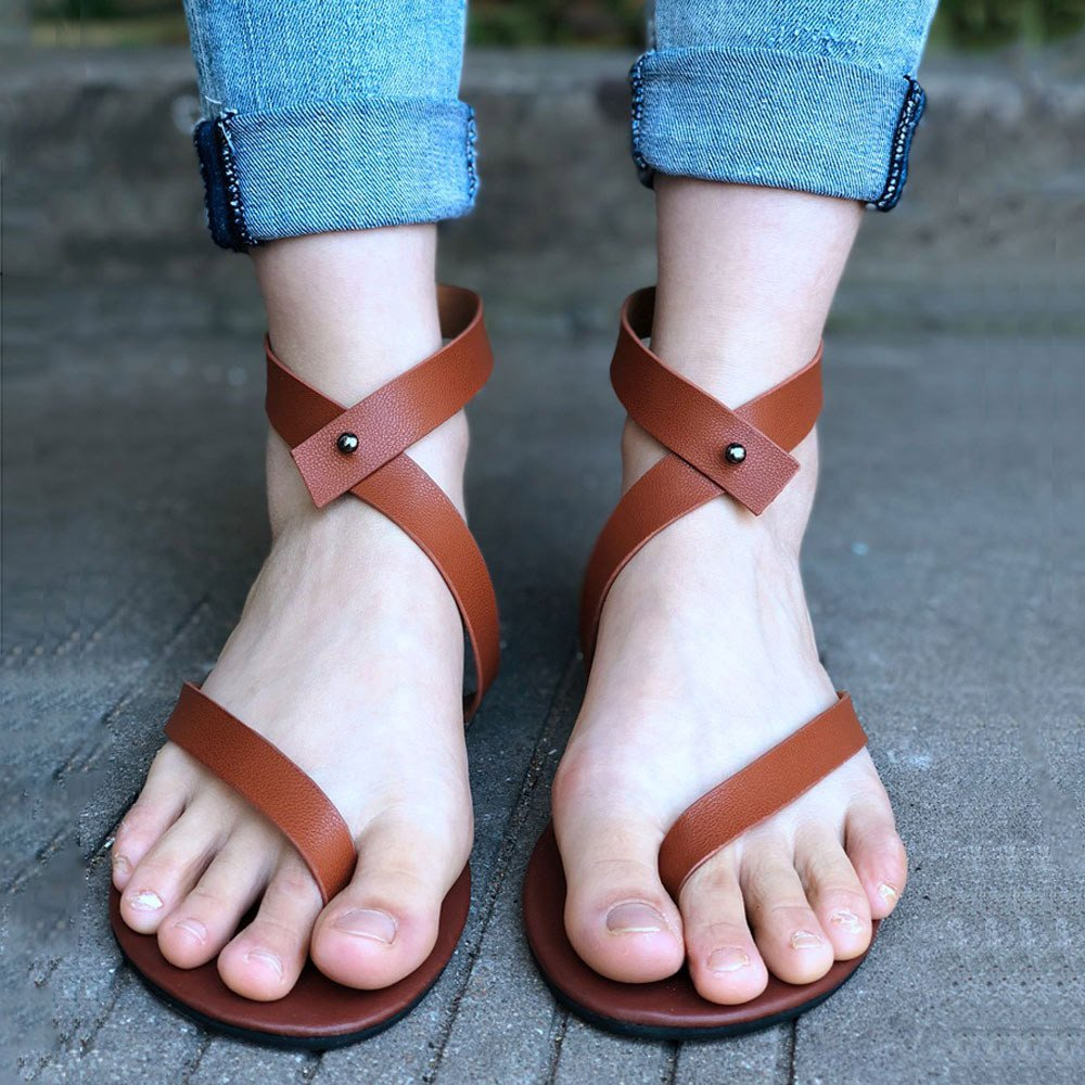 Clearance Hot Sale ❤ Summer Women Ladies Sandals Strap Flat Ankle/Roman Cusual Shoes Thong Footwear2019 New Summer Beach Sandals Slippers for Girls Women Ladies Under 10 Dollars