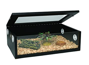 Monkfield Terranium Large Reptile Vivarium 24 Inch Black For
