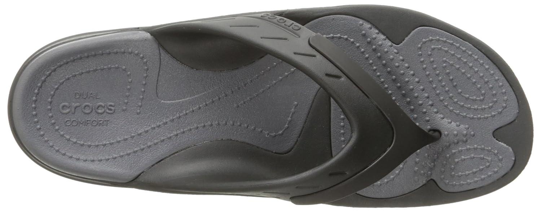 crocs Unisex-Erwachsene Modi Sport Flip (Black/Graphite) Zehentrenner Schwarz (Black/Graphite) Flip 9349c8