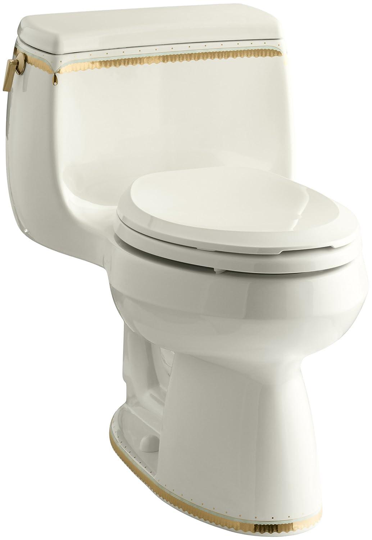 KOHLER K-14345-WF-96 Prairie Flowers Design on Gabrielle Comfort Height One-Piece Elongated Toilet Biscuit