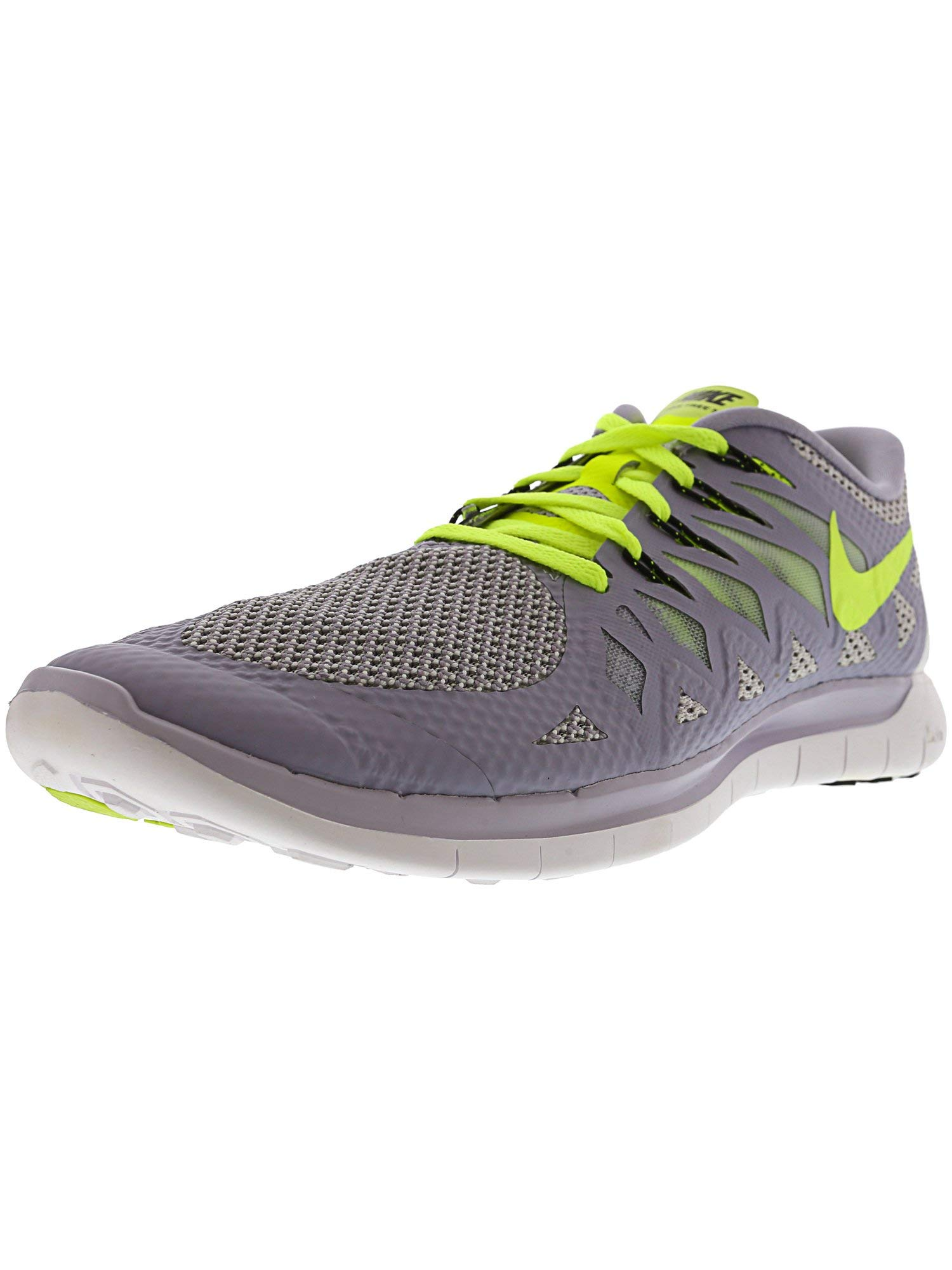f0bae19bb15a8 Galleon - NIKE Women s Free 5.0 Titanium Volt - Pure Platinum Ankle-High Running  Shoe 10.5M