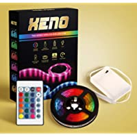 XENO TI64 Series - LED Strip Lights - WIRELESS - WATERPROOF RGB LED - 5050 SMD Strip Lighting - Portable - Indoors/Outdoors/Decoration - 24 Colours with Remote Control and Battery Pack 2m - Remote Battery Included