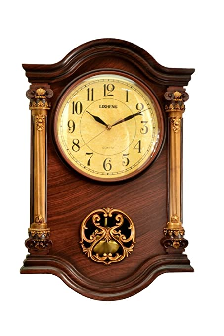 Amazoncom Leraze 22 x 15 x 3Inch Grandfather Wall Clock with