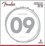 Fender, Original 150 String Set-150L (009/042) -3 Pack-Pure Vintage Nickel-Ball Ends (073-0150-309)