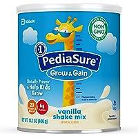 PediaSure增长和获得非转基因香草奶昔混合粉,儿童营养奶昔,14.1盎司,3计数