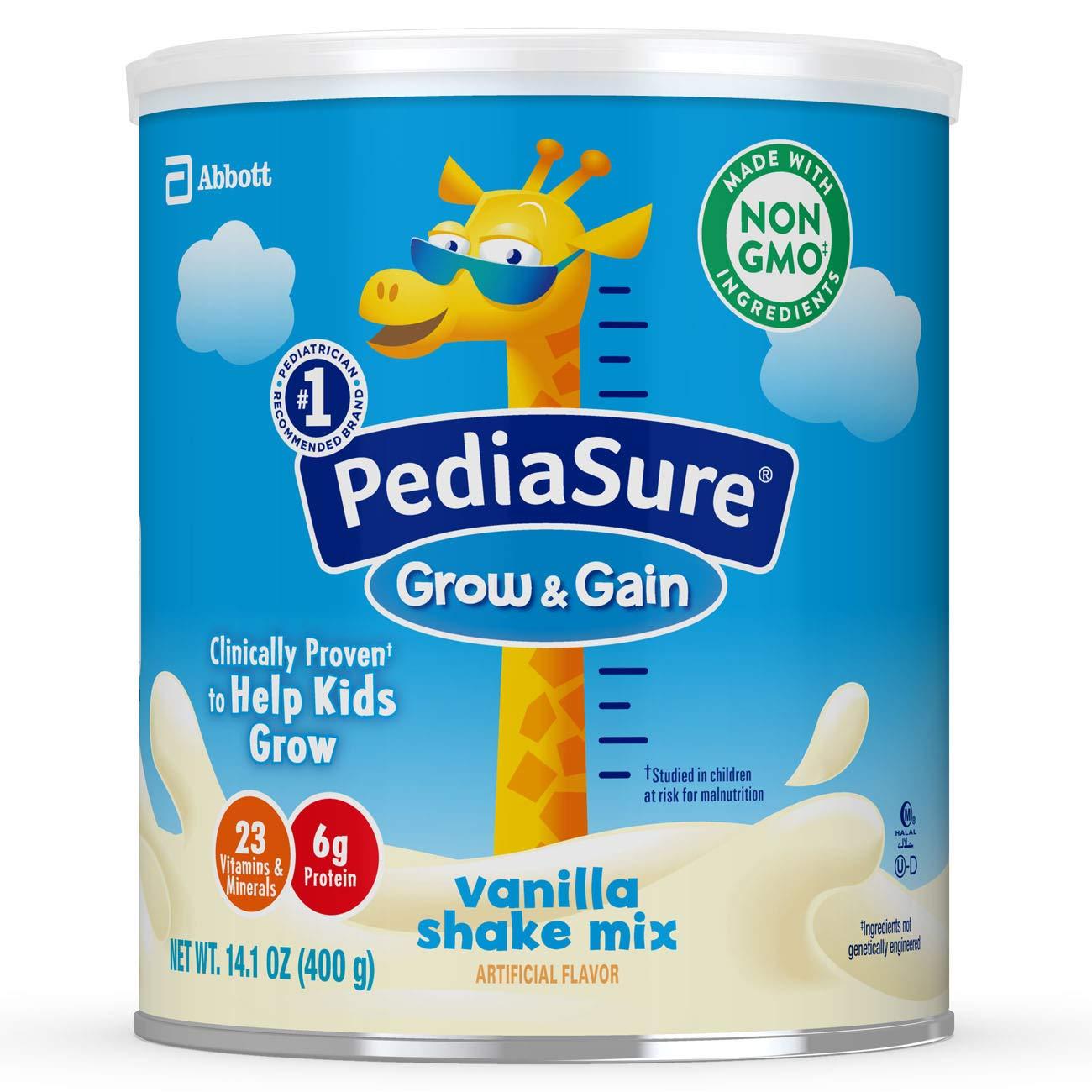 PediaSure Grow & Gain Vanilla Shake Mix, Nutrition Shake for Kids, 14.1 oz, 6 count by Pediasure Powder (Image #1)