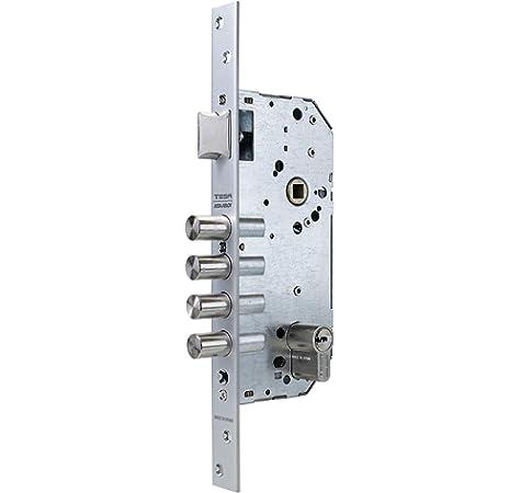 Tesa Assa Abloy 1 Cerradura Monopunto de Seguridad para Puertas de Madera, Latonado, Cil. 30x30mm: Amazon.es: Bricolaje y herramientas