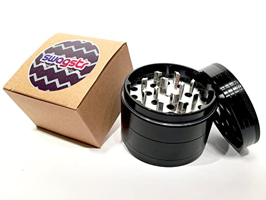Amazon.com: Wolf Large Black Etched Grinder - 4 Piece Grinders Premium 2.5