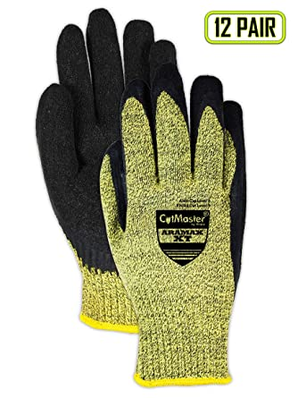 Yellow//Green 18 Magid Glove /& Safety AX183STAC CutMaster Aramax XT Sleeve with Thumb Slot /& Clip